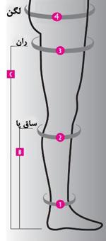 سایزبندی جوراب دیابت