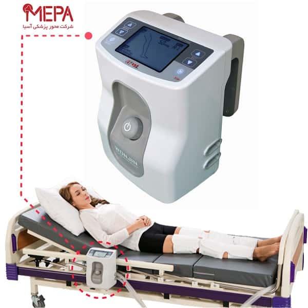 درمان آمبولی پا با دستگاه